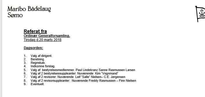 Referat fra Sømos generalforsamling 2018